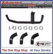 Subaru Impreza Modine Oil Cooler Cross Over Pipe & Samco Water Hose Kit MATT BLACK